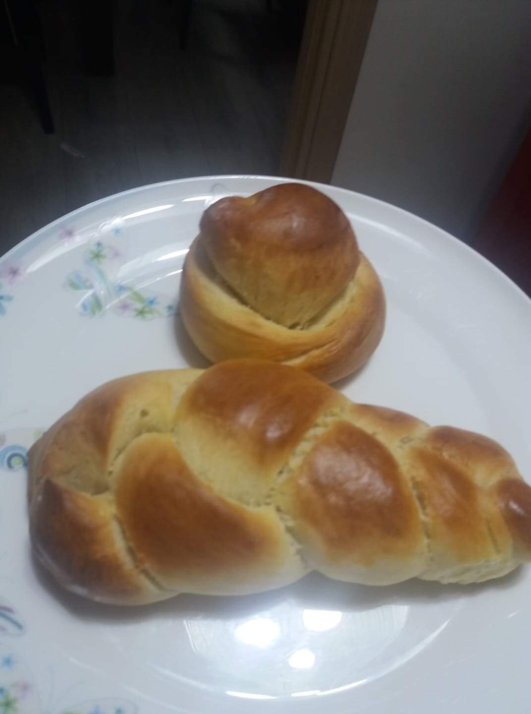 """Some """"Stay at home"""" Easter bread my neighbor baked."""