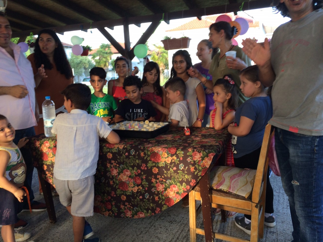 Birthday parties are an opportunity to have informal gatherings with friends and refugee families.
