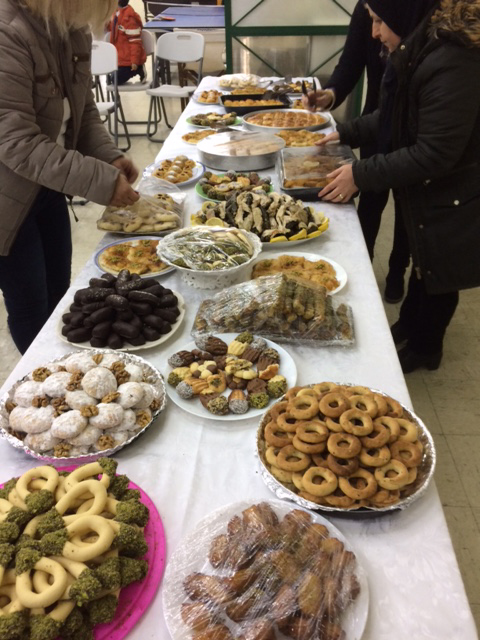 A table prepared by the Peace Pastry Team.