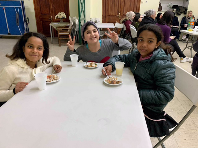 Young girls are welcomed into the Peace Pastry program.