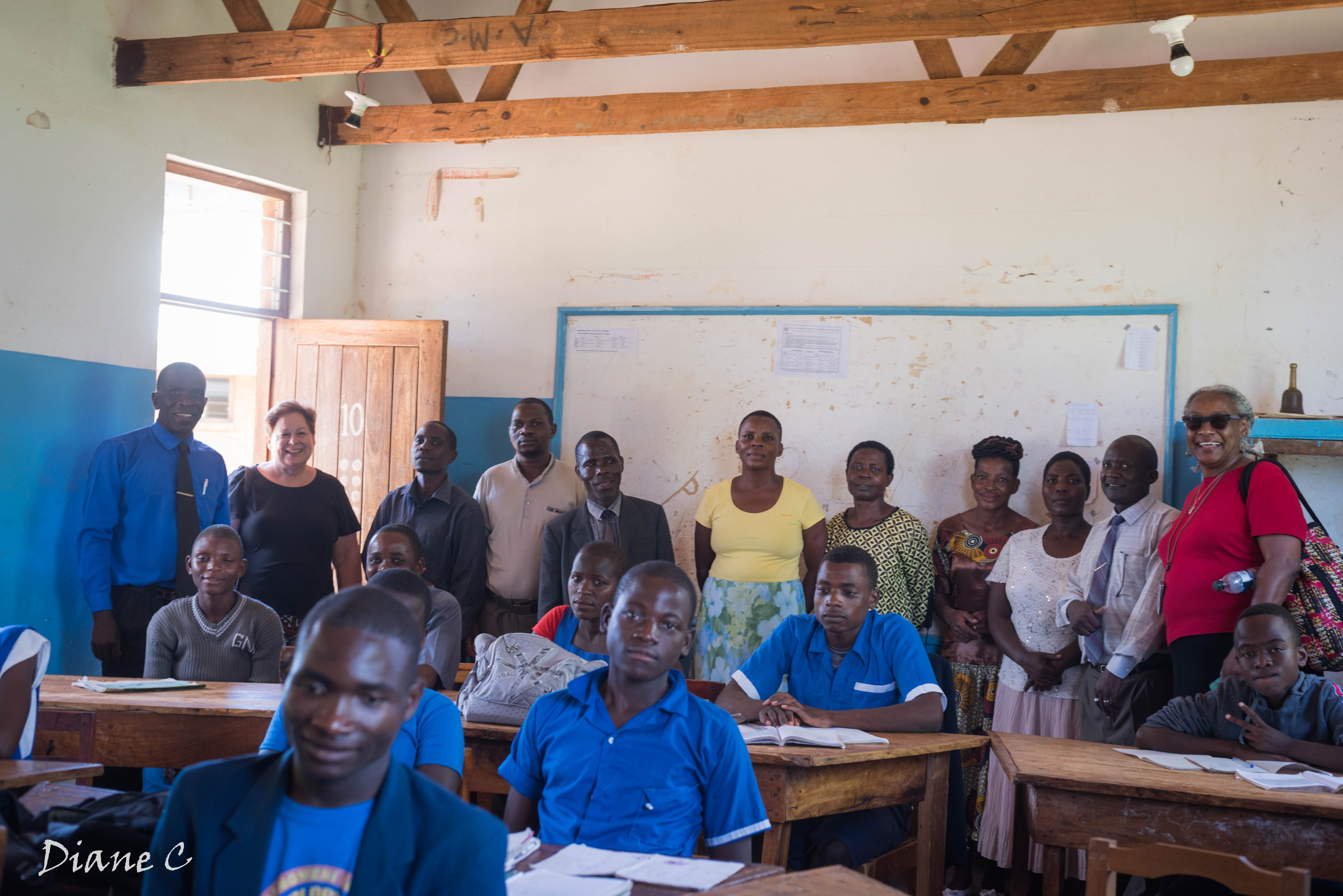 With students and teachers at CCAP Livingstonia Embangweni Primary School for the Hard of Hearing, Loudon Presbytery, northern Malawi.