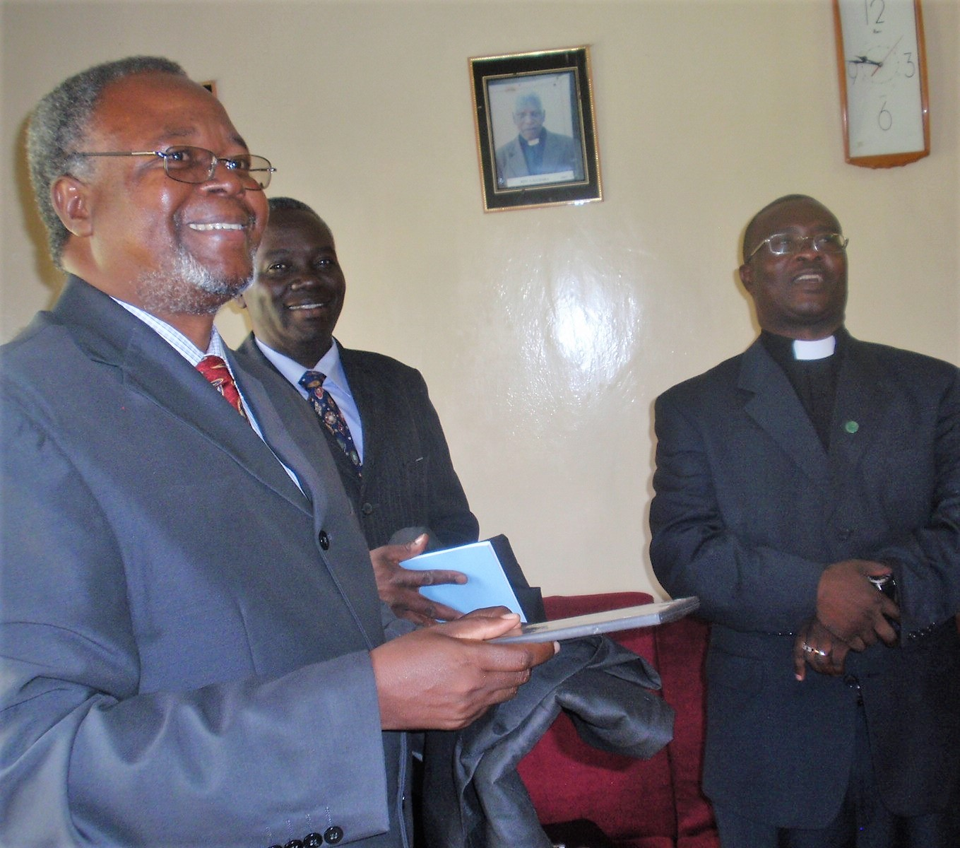 Dr. Chilenje visiting CCAP Synod of Livingstonia in northern Malawi.