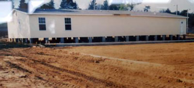 Construction of the original Belle Terrace Health and Wellness Center trailer circa 1999. (Photo provided)