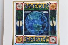 As an Earth Care Congregation, Second Presbyterian Church in St. Louis displays artwork with environmental messages in gathering rooms and near the sanctuary. (Photo courtesy Second Presbyterian Church)
