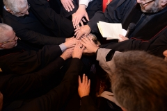 Hands laid on in prayer for Rola