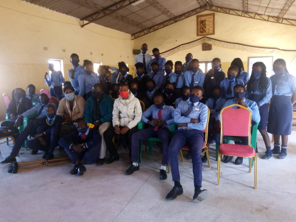 Group picture of 9th grade students at the King David Community School of the Church of Central Africa Presbyterian of Zambia (CCAP). (Photo Mr. Jack Mgwata)