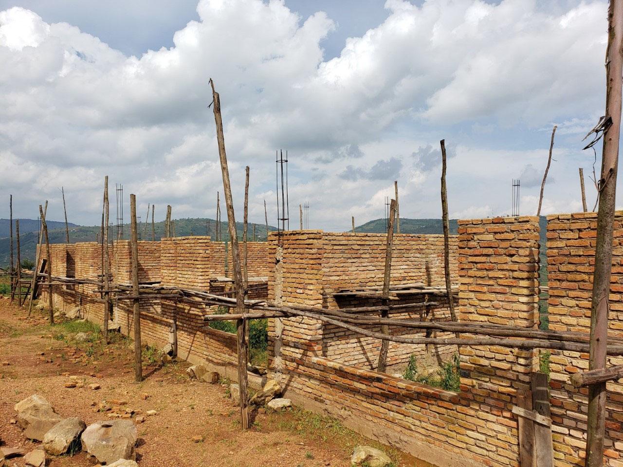 The incomplete classroom block at Kinihira Sub-parish