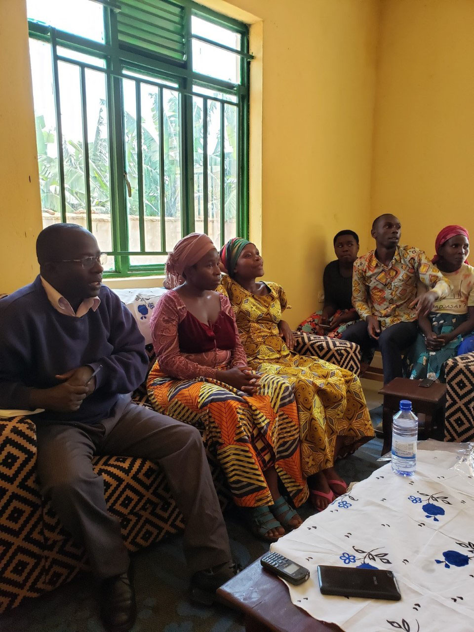 Our meeting with some of the members from the savings program and Mr. Innocent Semaringa, coordinator for ERP's CDP (sitting on the far left).