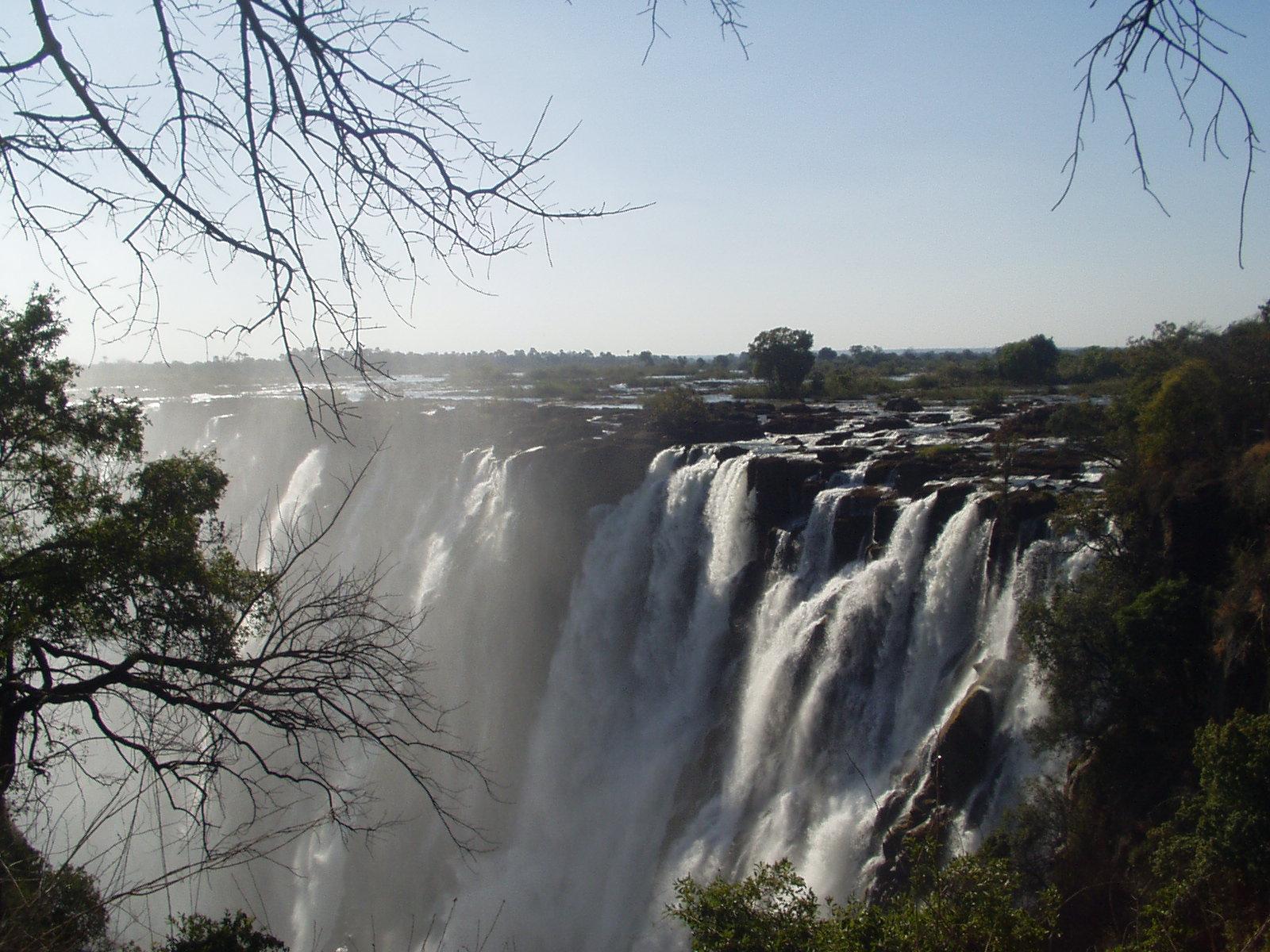 Victoria Falls in Zambia.