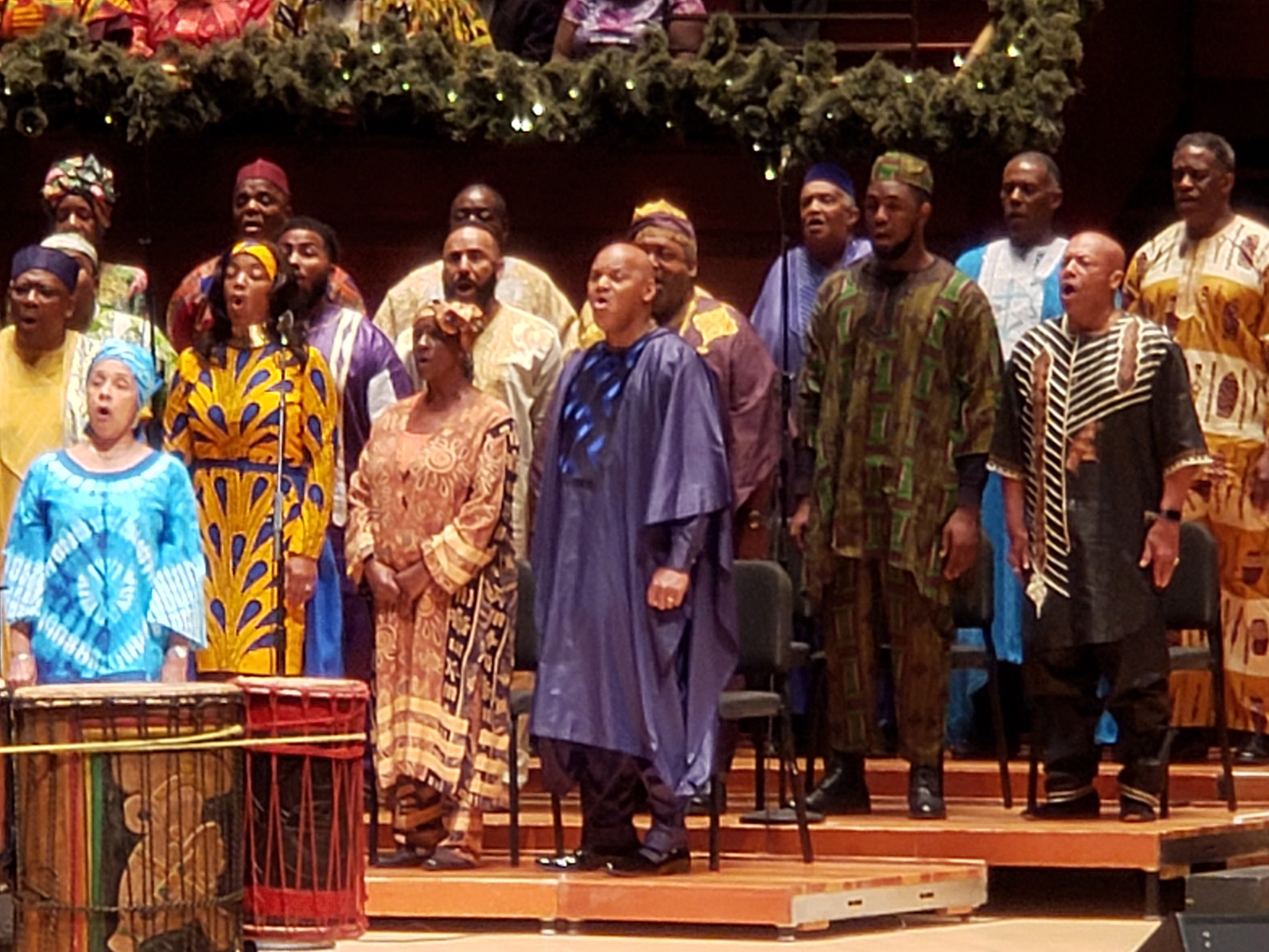 . I attended the Philadelphia Heritage Chorale Christmas concert at Kimmel Center in Philadelphia, PA. The choir was founded and conducted by Dr. Donald