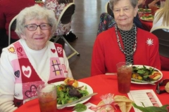 Luncheon guests Myrtle Myrick and Dot Burrows, from The Village at Summerville in South Carolina. (Photo by Betty White)