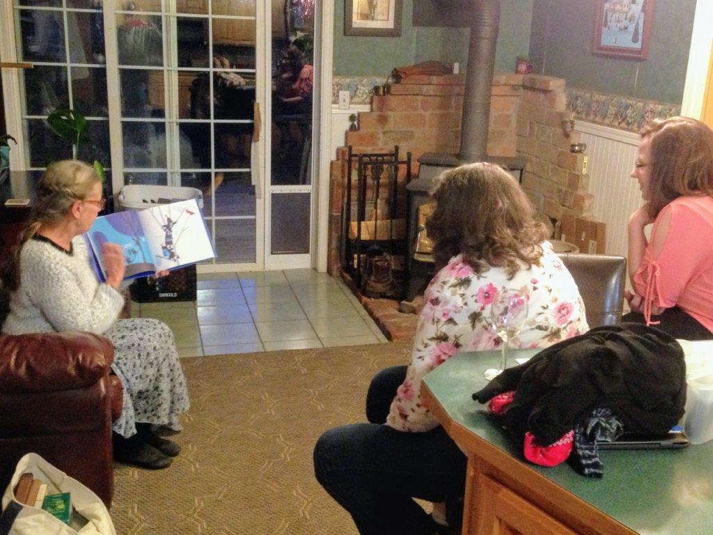 Debbie shares her favorite children's story with family.