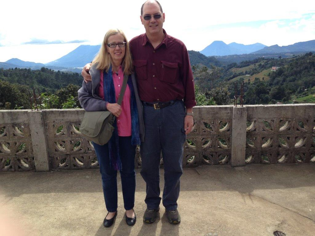 In 2013, our journey begins. In route to language school. Lake Atitlan overlook.