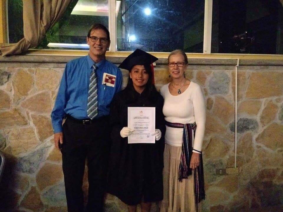 Secular education scholarship. Scholarship student and class valedictorian Candy's HS graduation.