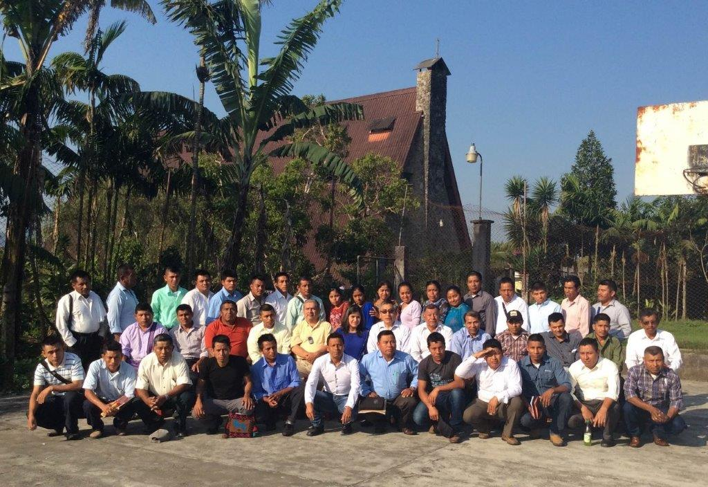 Theological education. A group of indigenous pastors concluding a week of study in Cobán, Guatemala.