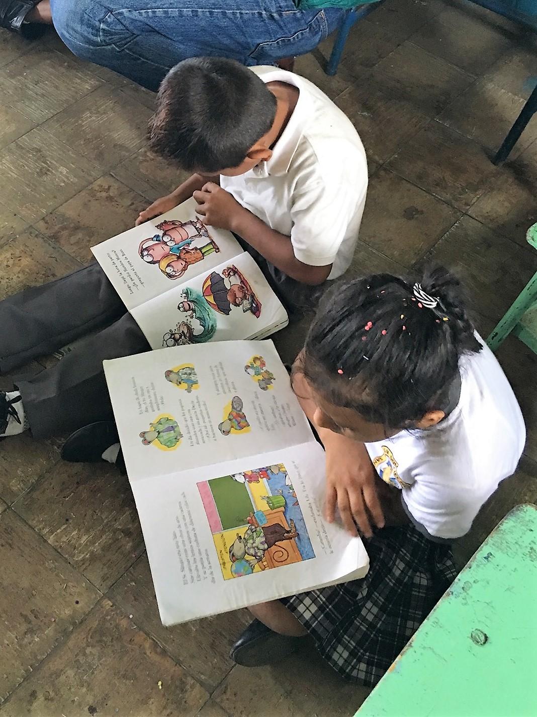 Children reading.