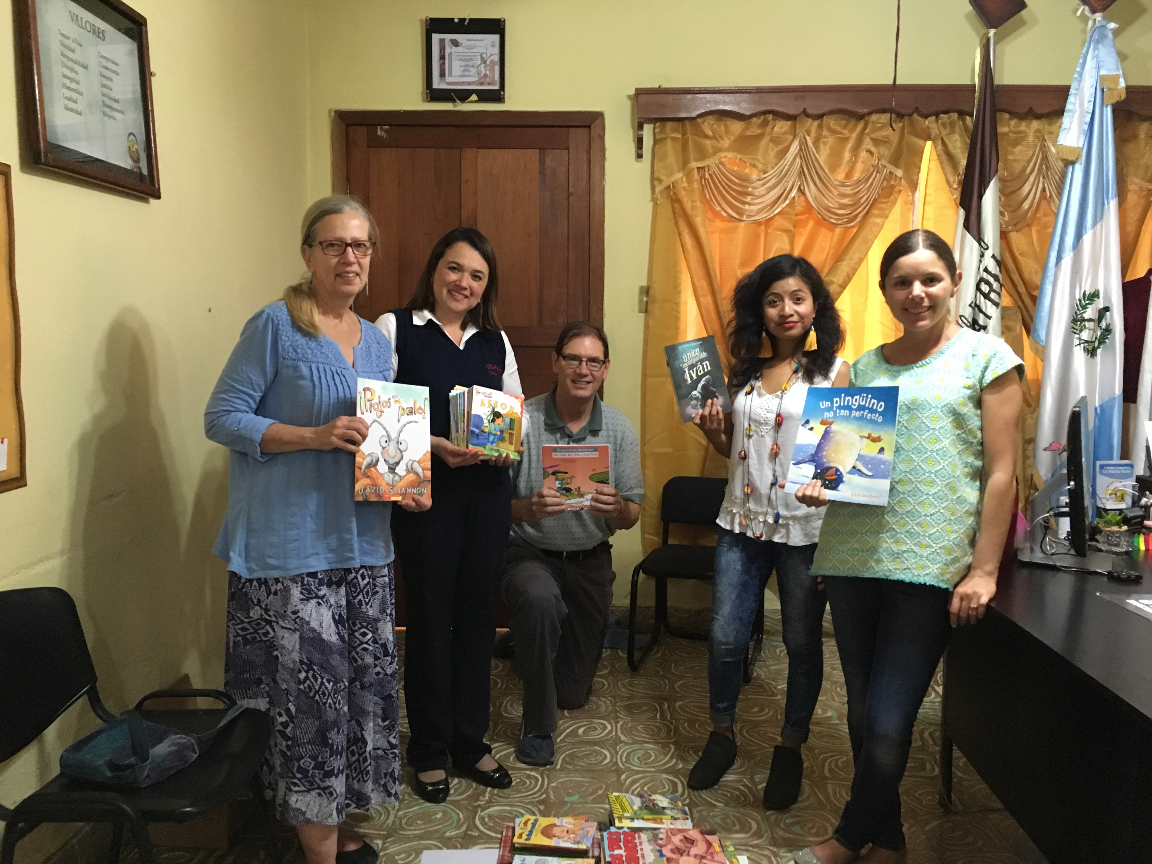Distributing Books.