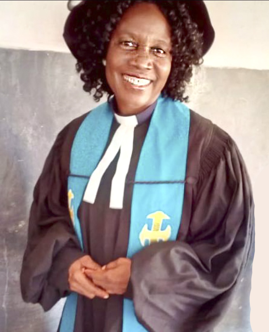 "Rev. Gladys, leader of Presbyterian Church of Ghana's ""Go Home Project."" Photo credit, Rev. Gladys."