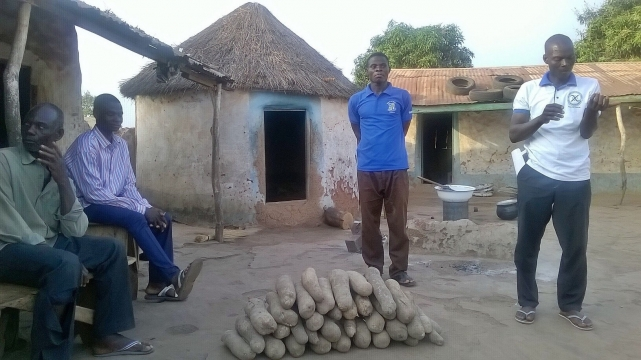 "In Northern Ghana, visiting pastors are often ""paid"" with a generous supply of yams!"