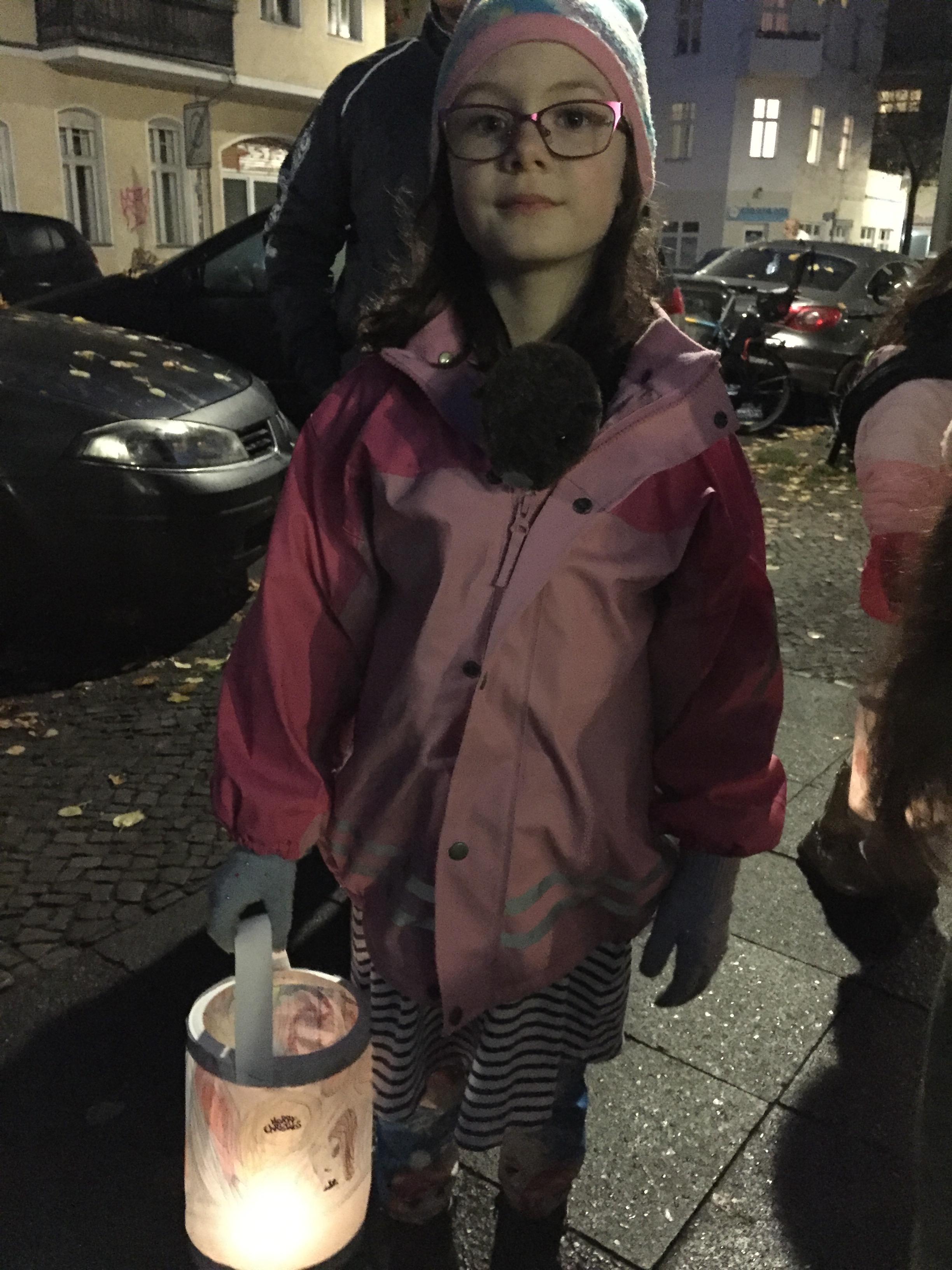 Ariella enjoying the lantern fest.