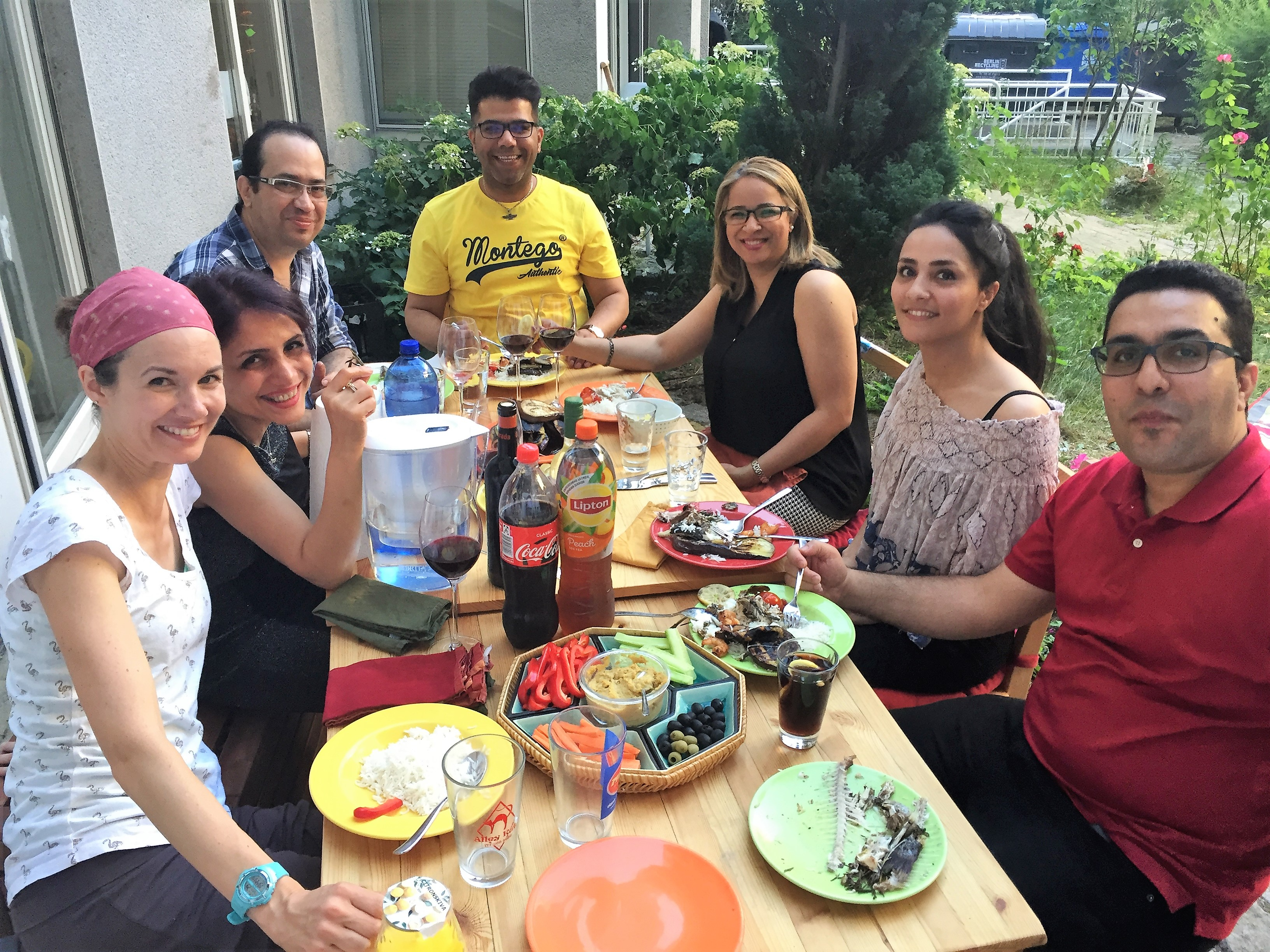 Hosting the summer leadership team from the Iranian Presbyterian Church before we left Berlin for itineration
