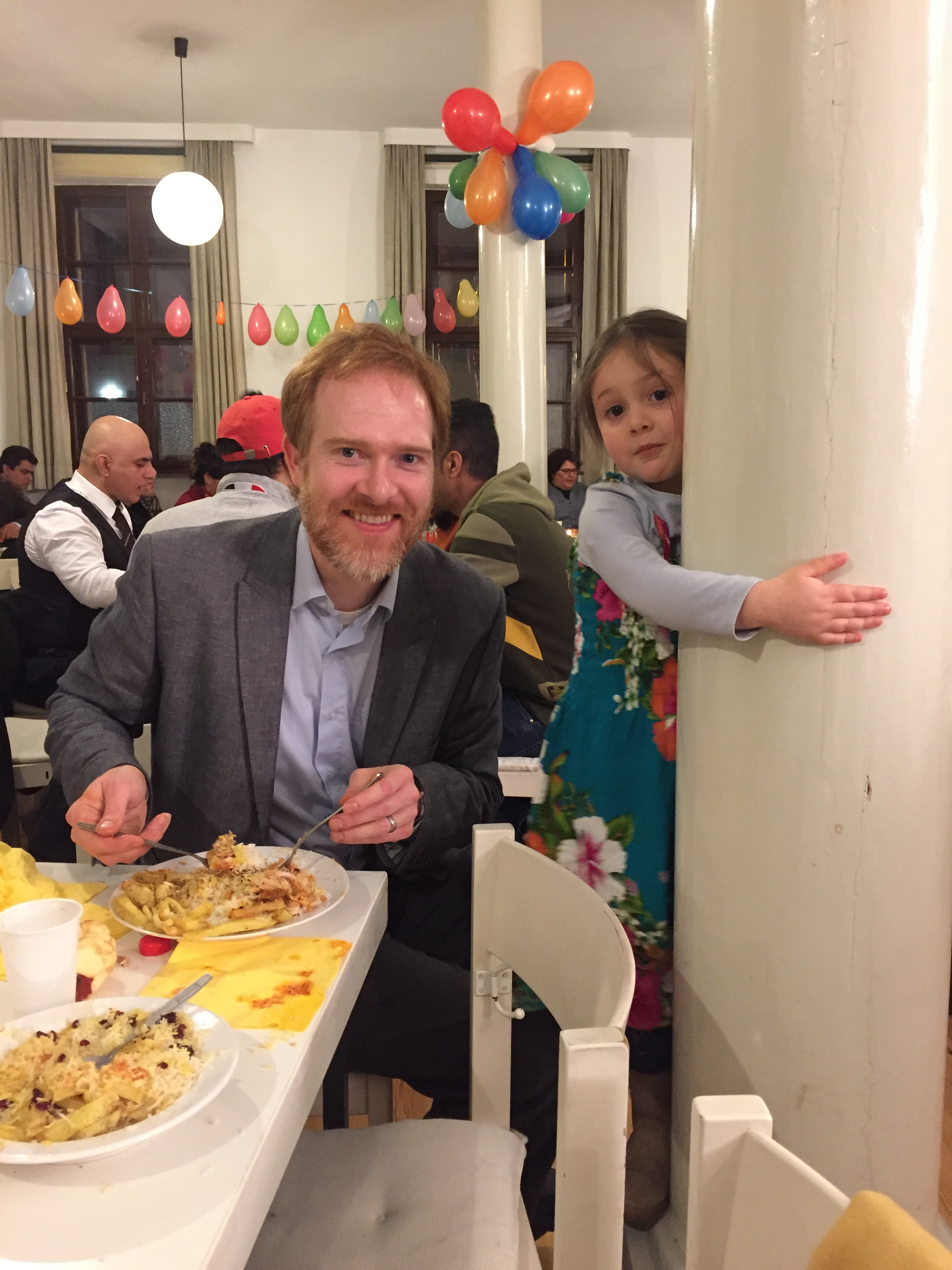 Ryan and Laila enjoying dinner during Nowruz.