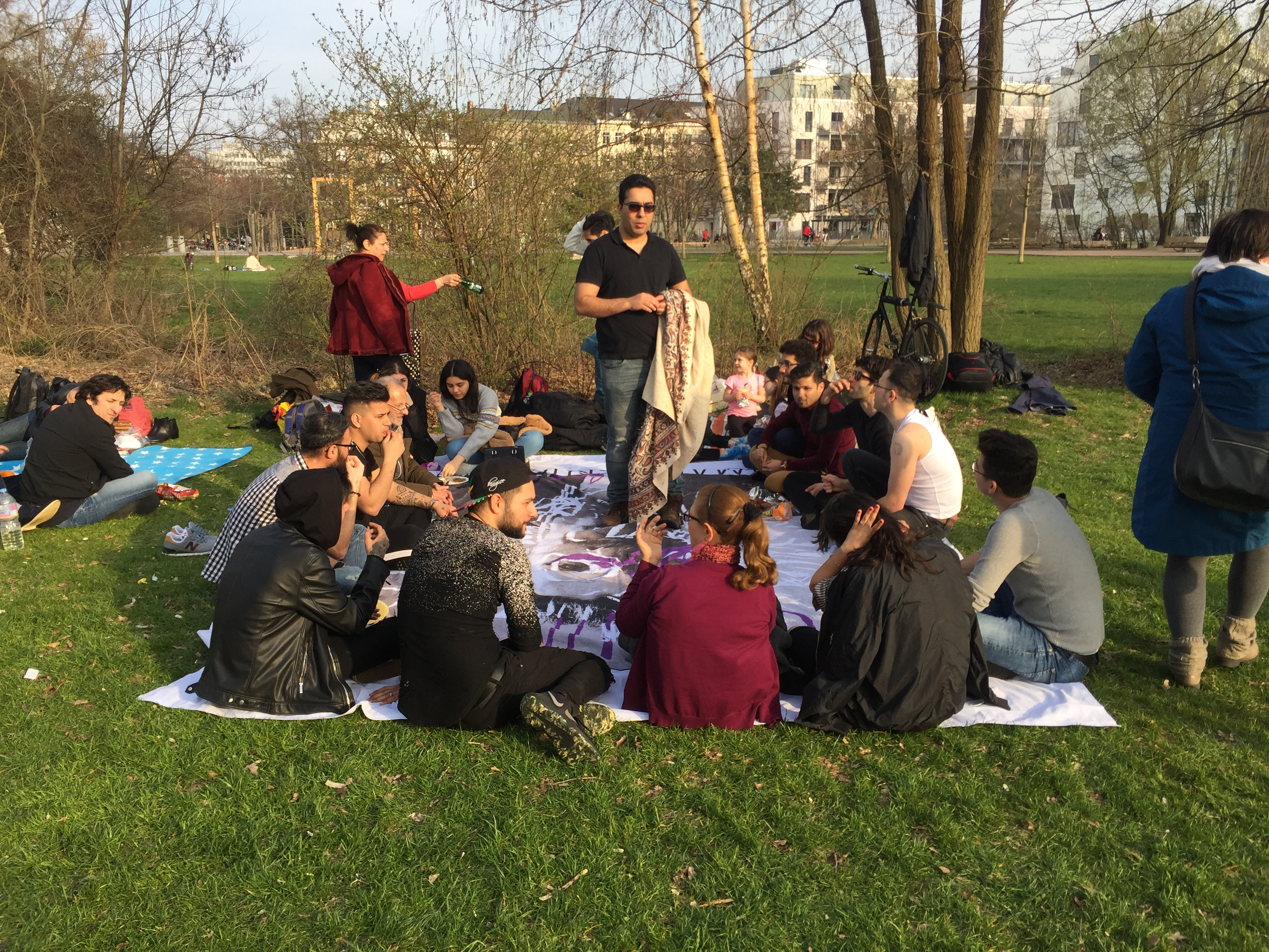 Gathering in the park on the 13th day after Nowruz.