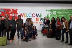 The Indonesian delegation en route to US via Hong Kong