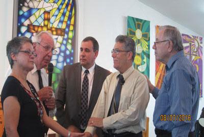 Josey Saez, Rev. John Sinclair, Rev. Alex Sosa, Rev. David Cortes-Fuentes, and Rev. Hector L. Nieves at FHPC in Tampa