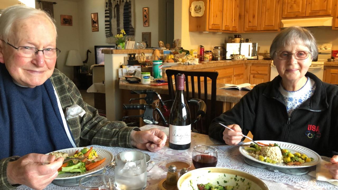Elmarie celebrates her mom's birthday with a specially prepared dinner.