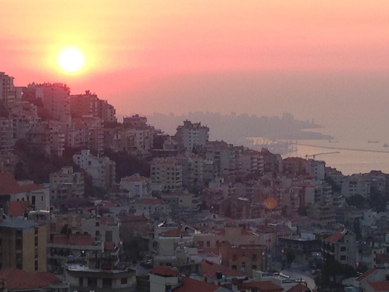 Sunset over Beirut.