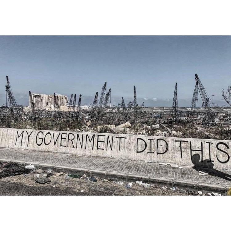 Beirutis express their pain.