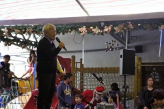 The school's principal (a nun) shares the meaning of Christmas