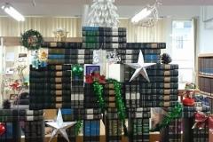 """A """"book tree"""" at the Taiwan Seminary Library"""
