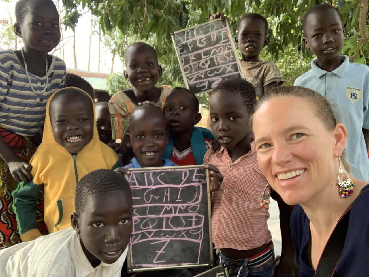 Excited to learn their ABCs at the Presbyterian Primary School in Pochalla, South Sudan.