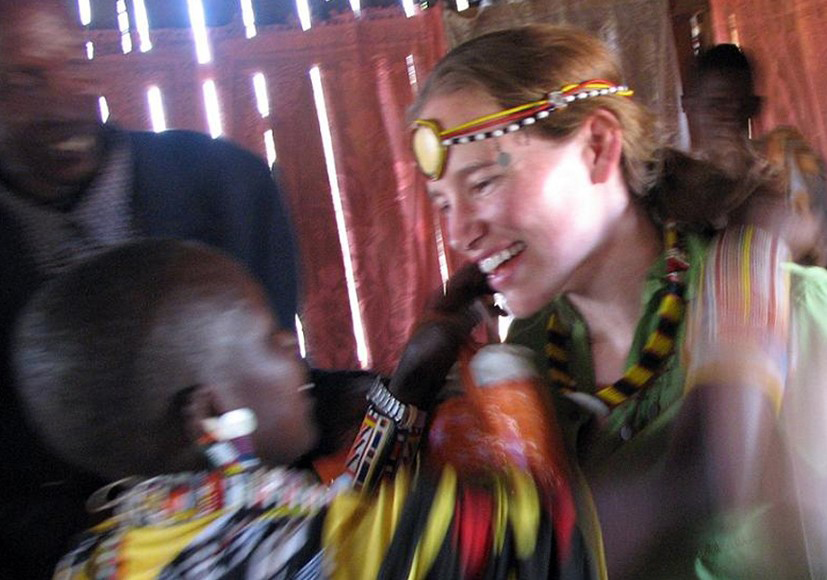 Warmly welcomed with beads by a Maasai Community in Kenya.