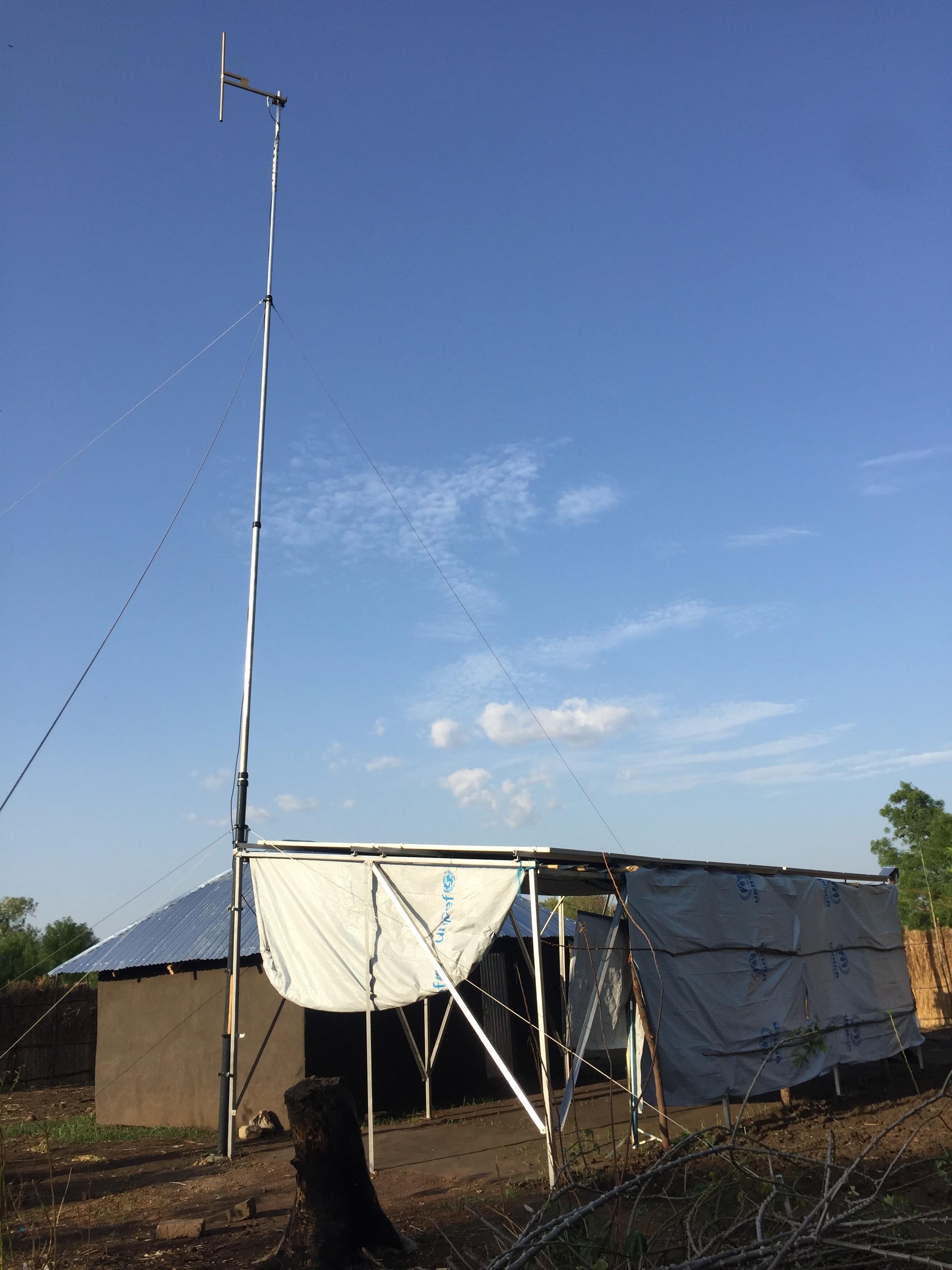 The new FM radio station in Pochalla, South Sudan.