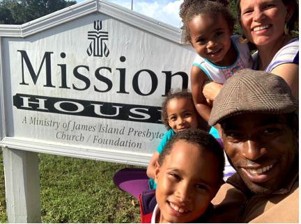 Moving into the Mission House at James Island Presbyterian Church.
