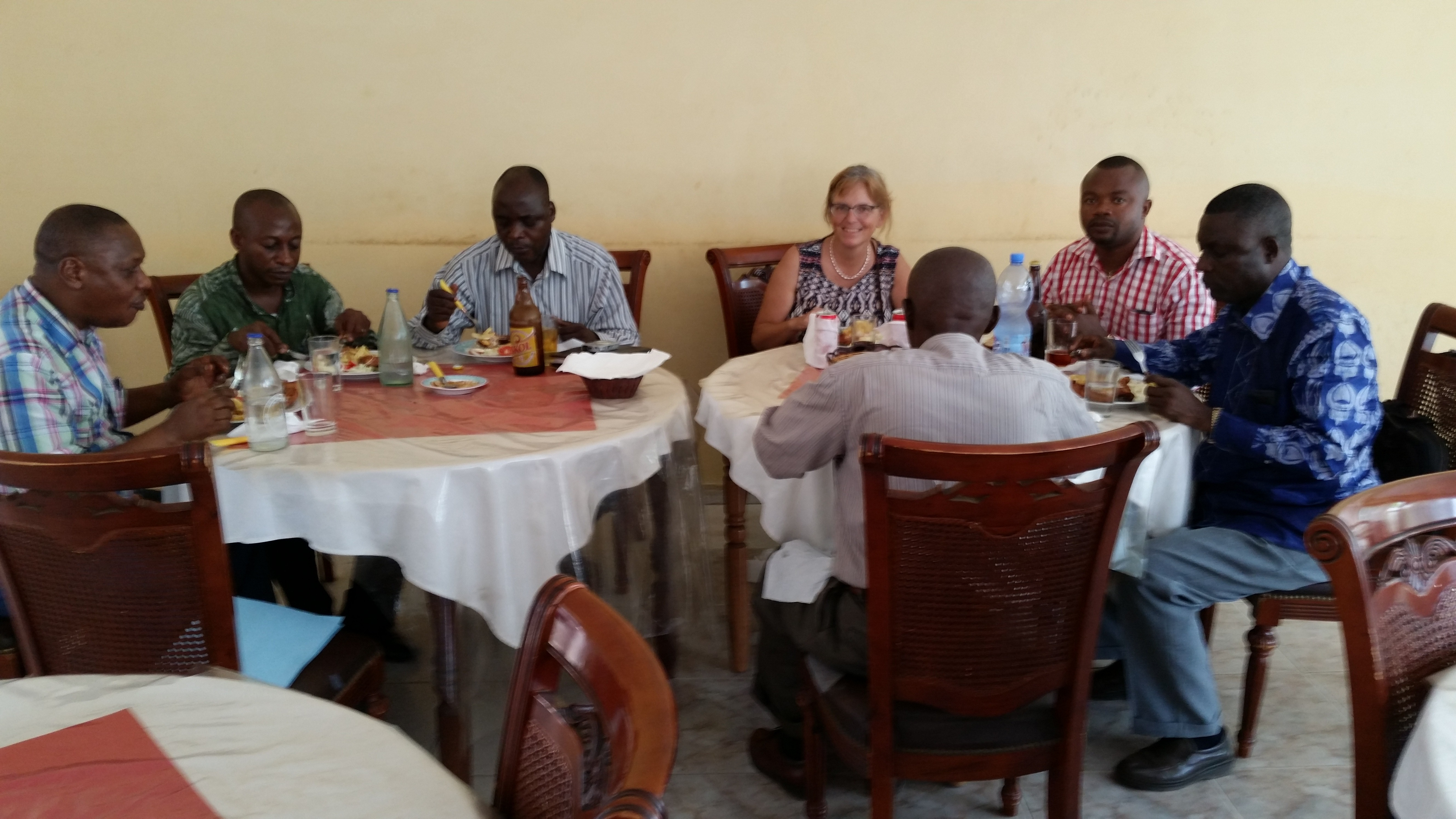 Lunch with colleagues in DRC