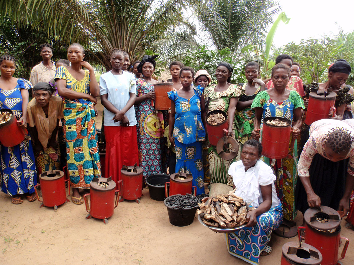 Mpoko women report that since using the clean cook stove, they and their families have had fewer colds and coughs