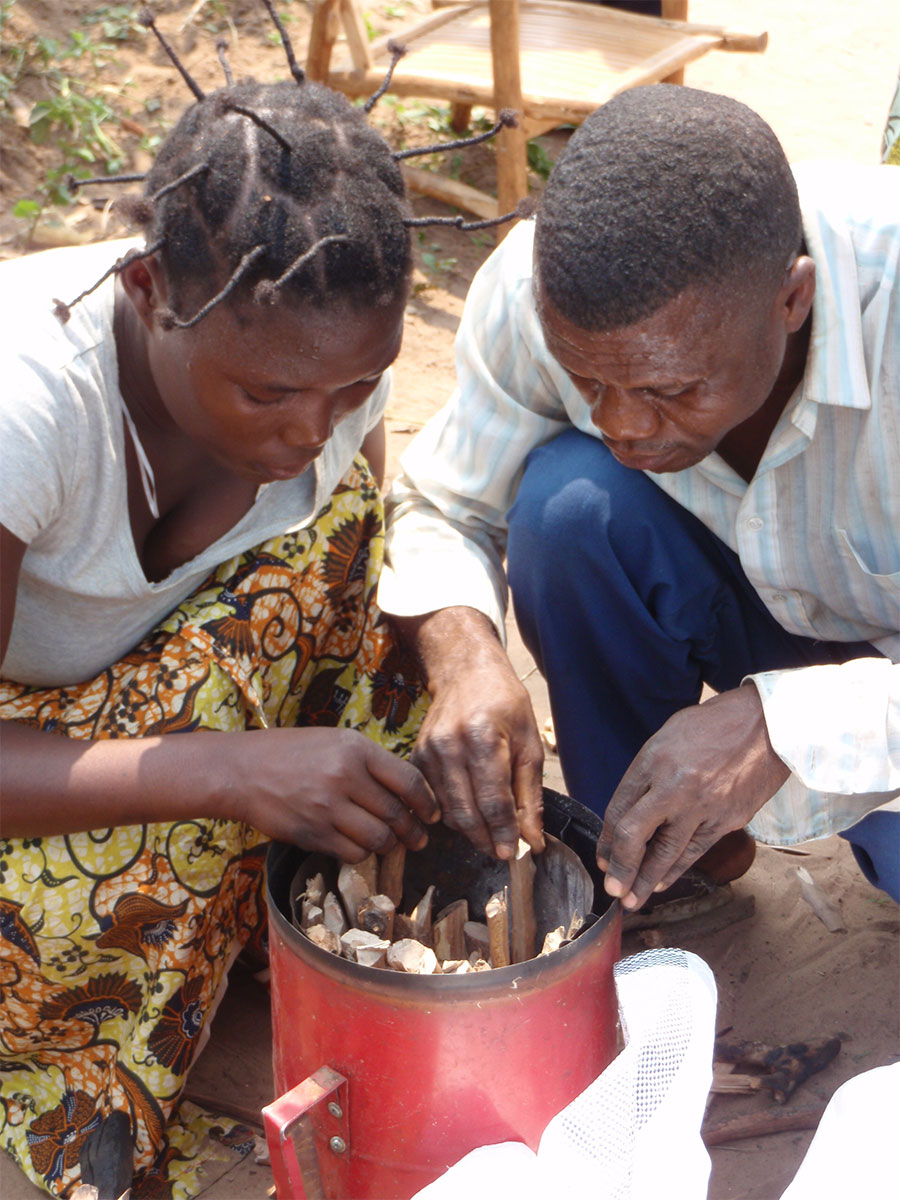 IMA Stove—Mpoko Model uses approximately half the wood of an open fire to cook a meal