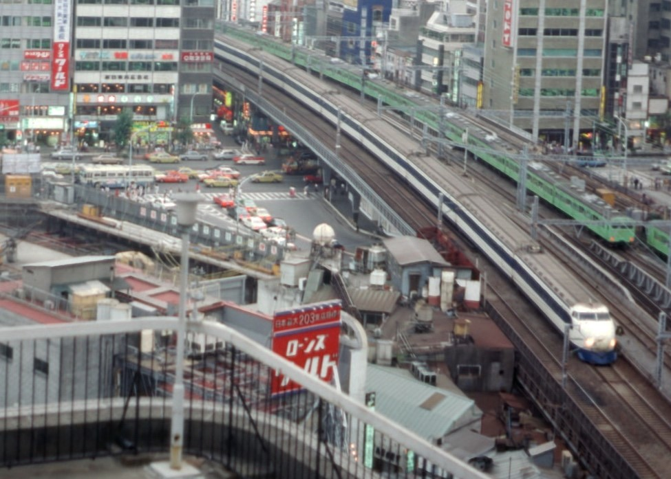 The Bullet Train, or Shinkansen, in 1982.