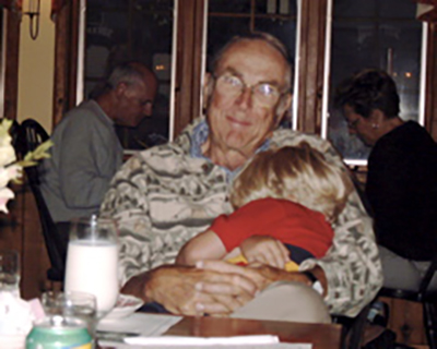 Resting with Grandpa.