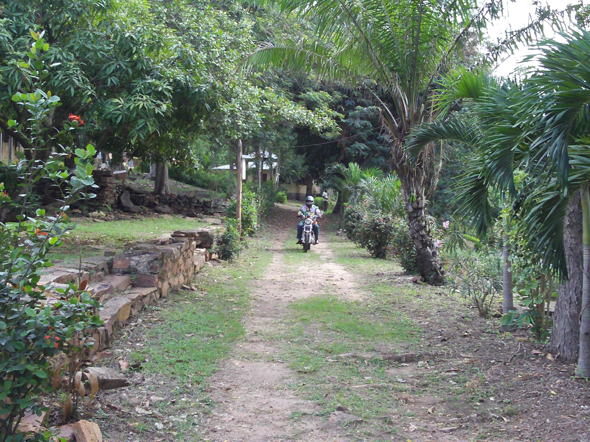 A road in the Togolese city of Atakpame leads to the hilltop seminary, which was constructed after World War I with the help of French missionaries.