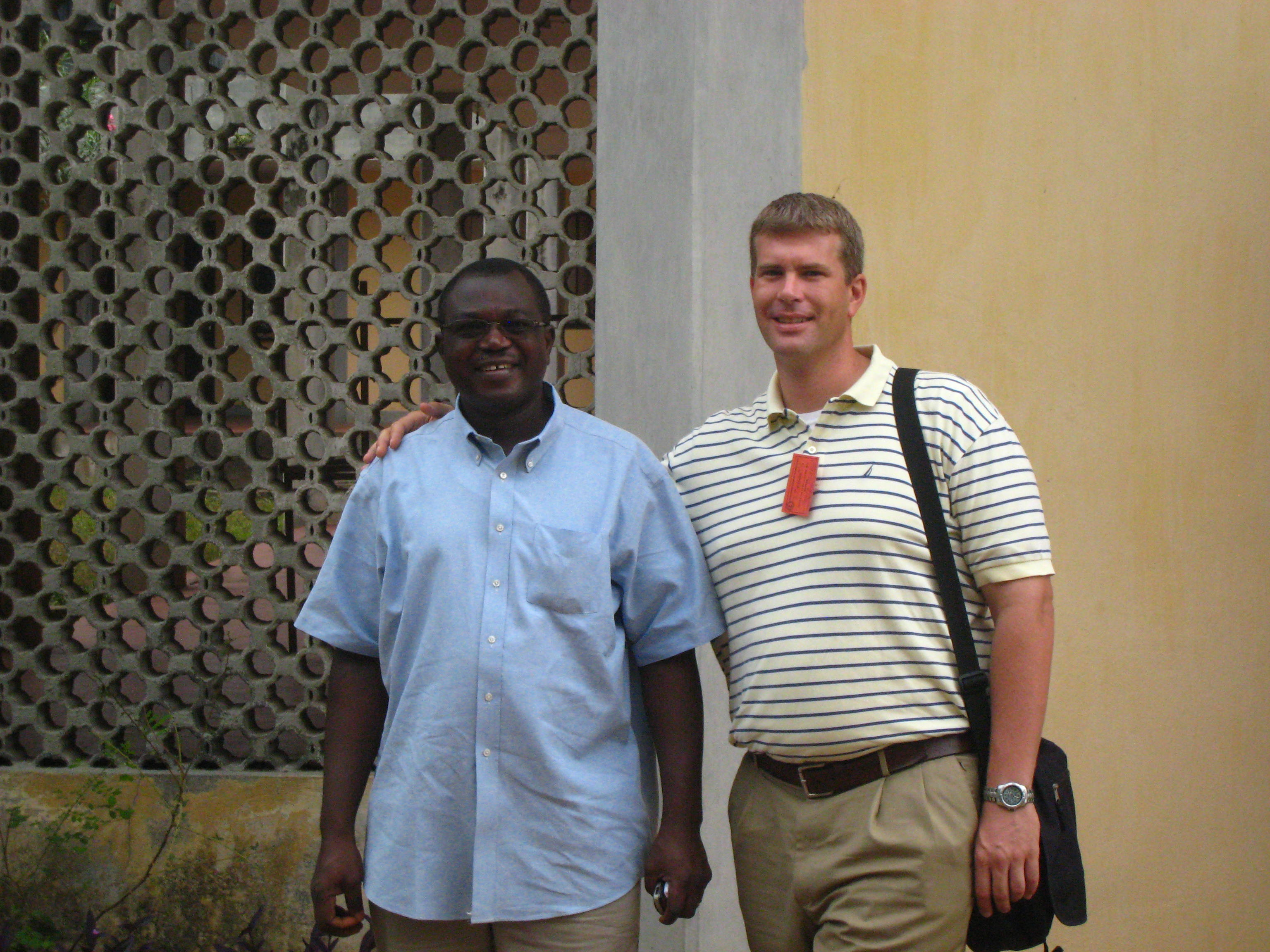 Joshua Heikkila (right) is with the Rev. Dr. Kossi Ayedze, who received his PhD from Princeton Seminary and was principal of the EEPT seminary in Atakpame at the time of his death in 2014. He was dedicated to the improvement of the school and to the well-being of the students educated there.