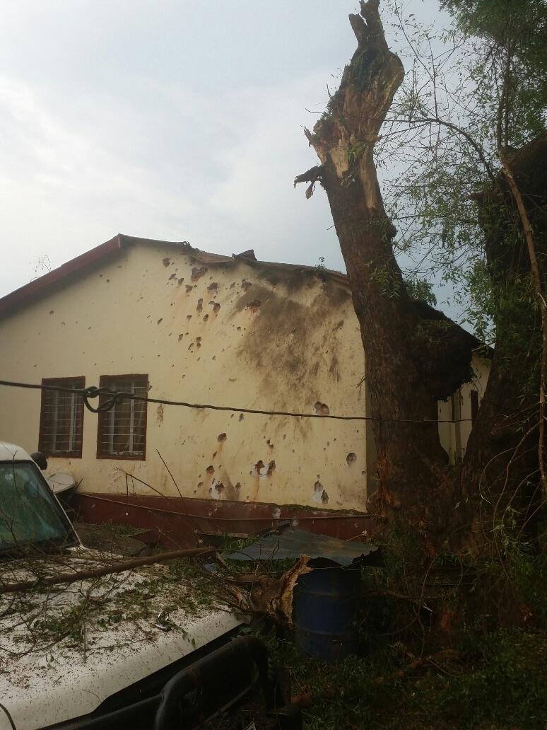 Elisama's home after the blast