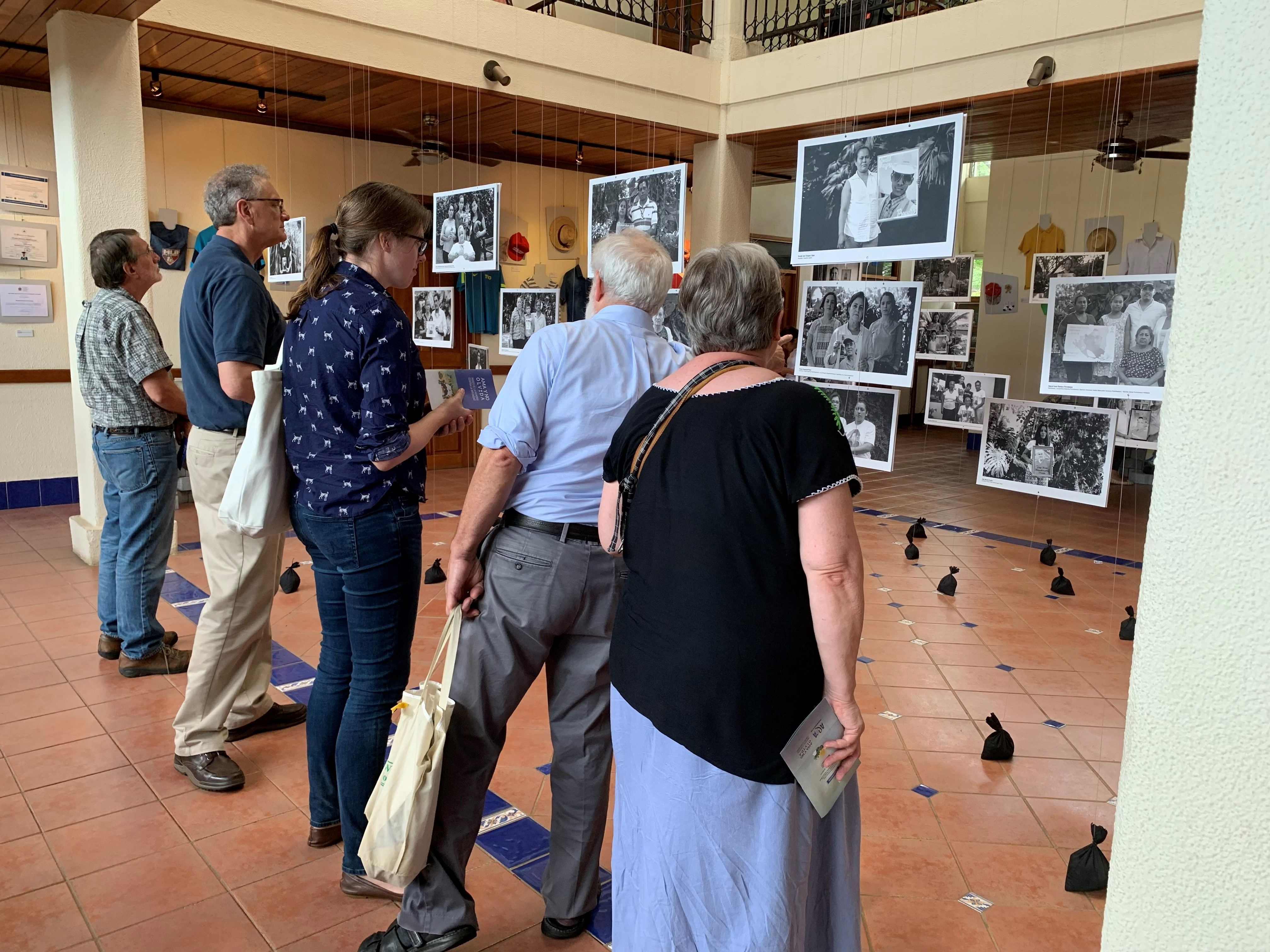 """Members of the ACSWP Central American Task Force visit the """"Museum of Memory against Impunity"""" organized by the Association of the Mothers of April in Managua, Nicaragua."""