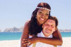 AND NOW: Shemiyia and her husband, Bobby Sweeney, at their wedding in Cabo San Lucas, Mexico. (Courtesy of Gabriela Lopez)