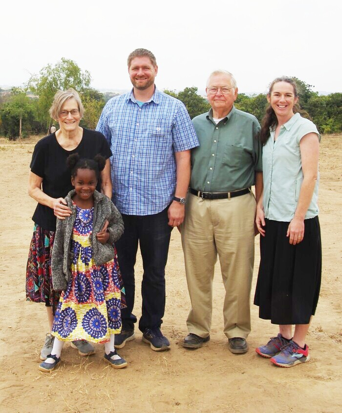 Tyler's parents, Jerry and Marian Holm, visited Malawi and the family.