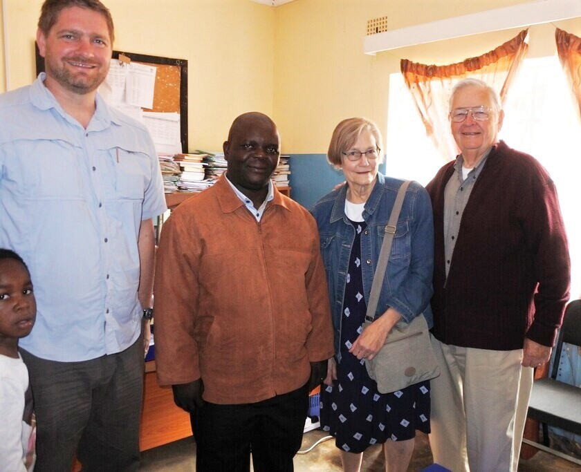 Visiting with Rev. LLS Nkhonjera at the University of Livingstonia Faculty of Theology.